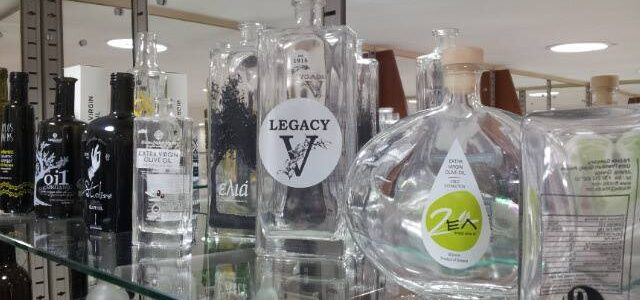 Εκτυπώσεις σε γυαλινα μπουκαλια για Λάδι - Κρασί